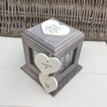 Shabby Chic In Memory Of A Son ANY NAME Rustic Wood Personalised Photo CUBE Box - 332868766719